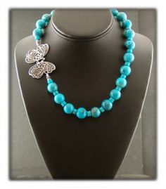 Authentic Turquoise Bead Necklace Set