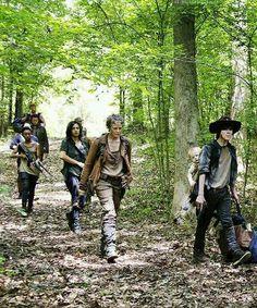 """Sasha, Tara, Carol, Carl and Judith - season 5 """"Strangers""""."""