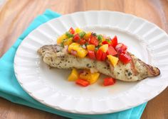 Grilled Tilapia with Mango Salsa | The Girl Who Ate Everything