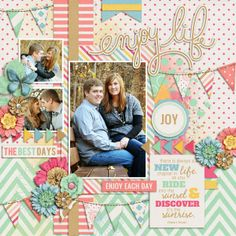 Life's A Beautiful Ride by Tickled Pink Studio and Fuss Free: Life's A Beautiful Ride by Fiddle-Dee-Dee Designs Layout by Whitney