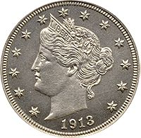 1913 Liberty Head V Nickel  most valuable coin  $3 to $4 million dollars ... only a handful available