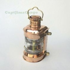 "Brass Ship's Masthead Lookout Lantern Oil Lamp 13.5"""" Fresnel Lens"
