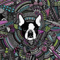 Boston terrier art Boston Terrior, Boston Terrier Art, My Baby Girl, Baby Girls, 3 Arts, Dog Art, Funny Cute, Puppy Love, Fur Babies