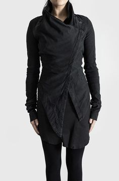 Visions of the Future: PREACH | Asymmetric closure jacket | Vintage black