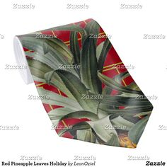 Shop Red Pineapple Leaves Holiday Neck Tie created by LeonOziel. Holiday Cards, Christmas Cards, White Elephant Gifts, Design Your Own, Christmas Holidays, Pineapple, Art Pieces, Leaves, Gift Ideas