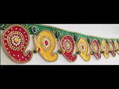 How to make a bandhanwar at home - Simple Craft Ideas Door Hanging Decorations, Diwali Decorations, Easy Crafts, Easy Diy, Saree Tassels Designs, Rajasthani Art, Diy Tassel, Crochet Tops, Rangoli Designs