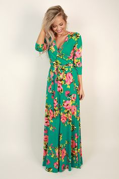 """The """"Fields Of Pretty Maxi"""" is so elegant, you'll never run out of reasons to wear it!"""