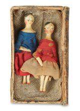Two Miniature Grodnertal Wooden Dolls 300/500 | Proxibid Auctions