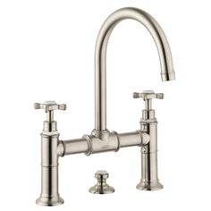 Buy the Hansgrohe 16510821 Brushed Nickel Direct. Shop for the Hansgrohe 16510821 Brushed Nickel Axor Montreux Widespread Bathroom Faucet with EcoRight and ComfortZone Technologies - Drain Assembly Included and save. Widespread Bathroom Faucet, Lavatory Faucet, Bathroom Sink Faucets, Bathrooms, Bathroom Hardware, Sinks, Brushed Nickel Faucet, Polished Nickel, Plumbing Fixtures