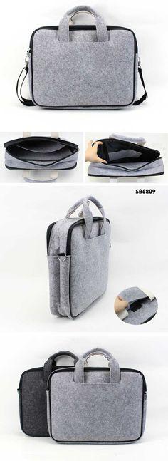 double layer felt laptop carry case / shoulder bag