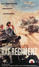 RAF Regiment poster