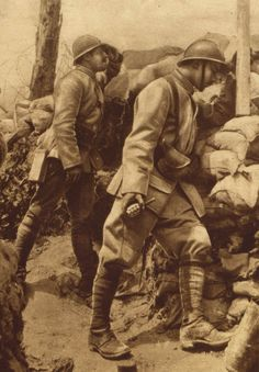 WW1. French soldiers