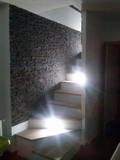 Ein Traum im Treppenhaus Schieferoptik in Tief Grau