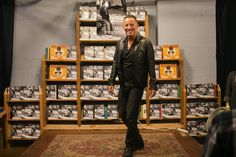 Recording artist Bruce Springsteen greeted fans, took photos with them and handed out signed copies of his new book on Saturday at Elliott Bay Books in Seattle. (Johnny Andrews/The Seattle Times)
