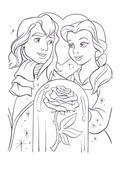 beauty and the beast coloring page disney coloring pagesprintable - Coloring Books Printable