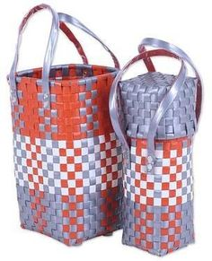 Home Decor, Jewelry & Gifts by Talented Artisans Worldwide Basket Weaving, Hand Weaving, Craft Bags, Recycle Plastic Bottles, Bottle Holders, Recycling, Pairs, Tote Bag, Craft
