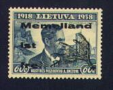 """Lithuania Stamp - Memelland ist frei"""""""