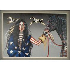 Henri Peter Native American Art | MEB : Henri Peter Original Mixed Media Native American Art