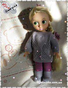 Тёплое вязание для куклы Рапунцель Дисней » Клуб-Нитка - вязание спицами и не только