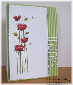The stamp is an old Hero Arts one that I have watercoloured with distress inks. The Thanks die is from Simon Says Stamp