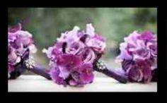 Purple bridal bouquets