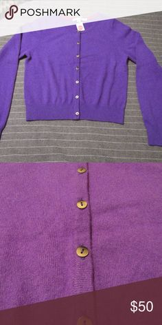 Purple 100% Cashmere BODEN Sweater Brand new, never been worn! 100% cashmere cardigan from BODEN. 2 pic looks more Fuchsia, but pic 1 is true to color. Its Purple! Boden Sweaters Cardigans