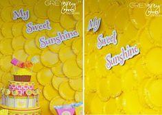 Sunshine paper plate backdrop