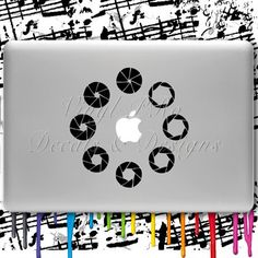 Aperture Ring Photoraphy Lens Photo DSLR Decal for Macbook