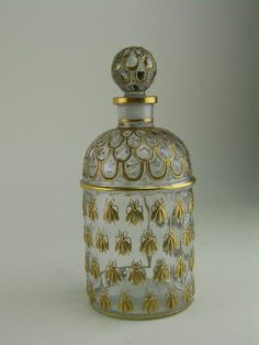 Guerlain perfume bottle decorated in the Napoleonic style with gilt bumble bees