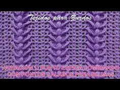Variación 1: Punto a crochet Espiga combinado con puntos calados para blusas y chalecos de verano - YouTube Crochet Stitches, Crochet Patterns, Crochet Hats, Wool Embroidery, Crochet Tablecloth, Crochet Videos, Blanket, Beads, Knitting