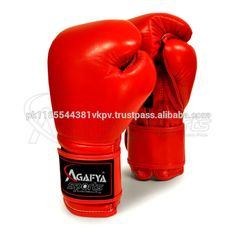 cowhide leather boxing gloves red