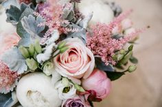 Peony Wedding Bouquet With Pink Astilbe