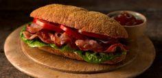 Gluten Free Bacon, Lettuce and Tomato Sub with Tomato Sauce | Newburn Bakehouse