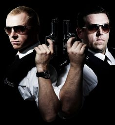 Simon Pegg and Nick Frost -Hot Fuzz! Just love the humour. Great Films, Good Movies, Awesome Movies, See Movie, Movie Tv, Movies Showing, Movies And Tv Shows, Simon Pegg, Hilario