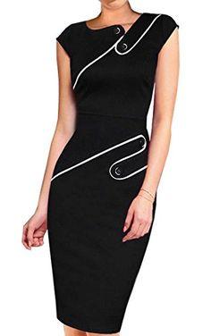 ACEVOG Women Pinup Tunic Wear To Work Business Party Pencil Sheath Dress - http://darrenblogs.com/2015/11/acevog-women-pinup-tunic-wear-to-work-business-party-pencil-sheath-dress/