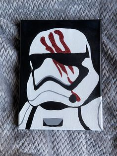 Read the full title Stormtrooper Glittery Portrait Painting