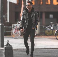 Men's fashion. Rock outfit.