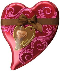 Dove Valentine's Truffle Hearts, Milk Chocolate, 6.5-Ounce Heart Tin Dove