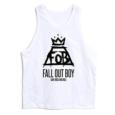 New T-shirt-00 Fall Out Boy Save Rock and Roll Unisex Tank Top Vest Sleeveless Tee (WHITE) by OKSTARTake for me to see Ne