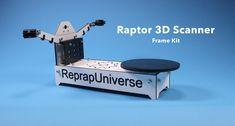 Raptor 3D Scanner - DIY Frame Kit, ReprapUniverse.com