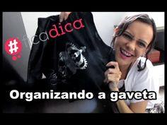 Organizando a gaveta - cores preta e cinza   Luciana de Queiróz