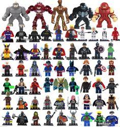 The Avengers MiniFigures Building Block Toys MARVEL Super Heroes Series 60p/Lots #UnbrandedGeneric