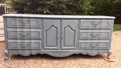 French Provincial in Blue Echo by Bellablakely Uptown Vintage Furniture