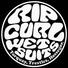 Surf Logos (Old School) Surf Stickers, Brand Stickers, Retro Surf, Vintage Surf, Rip Curl, Surf Logo, Sports Nautiques, Surf Brands, Typography