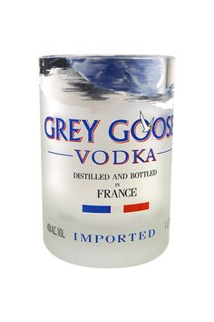 KEGWORKS GREY GOOSE RECYCLED BOTTLE ROCKS GLASS