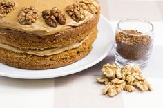 We need your help to identify the UK's favourite cake by voting on the delicious treats in this list. Coffee And Walnut Cake, Xmas Food, Yummy Treats, Tiramisu, Breakfast, Ethnic Recipes, Cakes, Morning Coffee, Cake Makers