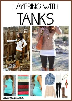 Layering with Tanks - if you& going to wear leggings, you& going to want a tank to wear with them. Read this post for the three BEST tanks to wear underneath a tunic, shirt, or sweater! Legging Outfits, Casual Outfits, Cute Outfits, Fashion Outfits, Fashion Fashion, Fall Winter Outfits, Autumn Winter Fashion, Winter Stil, Leggings