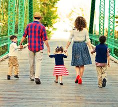 Sweet family picture and blog post about marriage. Navy, red and tan/khaki colors for family photos @Denyce Rossi Burns ...an idea