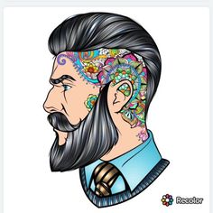 Barber Man, Barber Logo, Tattoo Sleeve Designs, Sleeve Tattoos, Barber Shop Decor, Beard Art, Barbershop Design, Actors Images, Special Characters