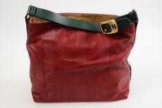 ecf796b1f07 Fendi Penguin cherry multi leather tonal stripe hobo handbag purse  1610